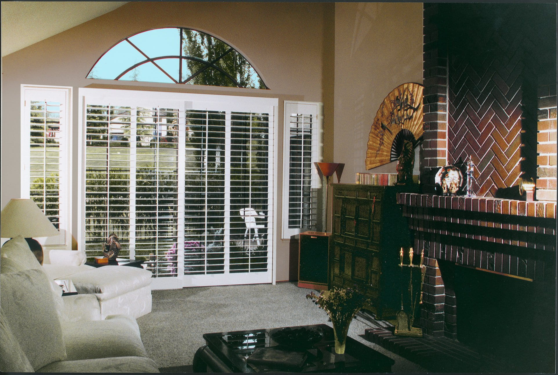 Patio Door Plantation Shutters
