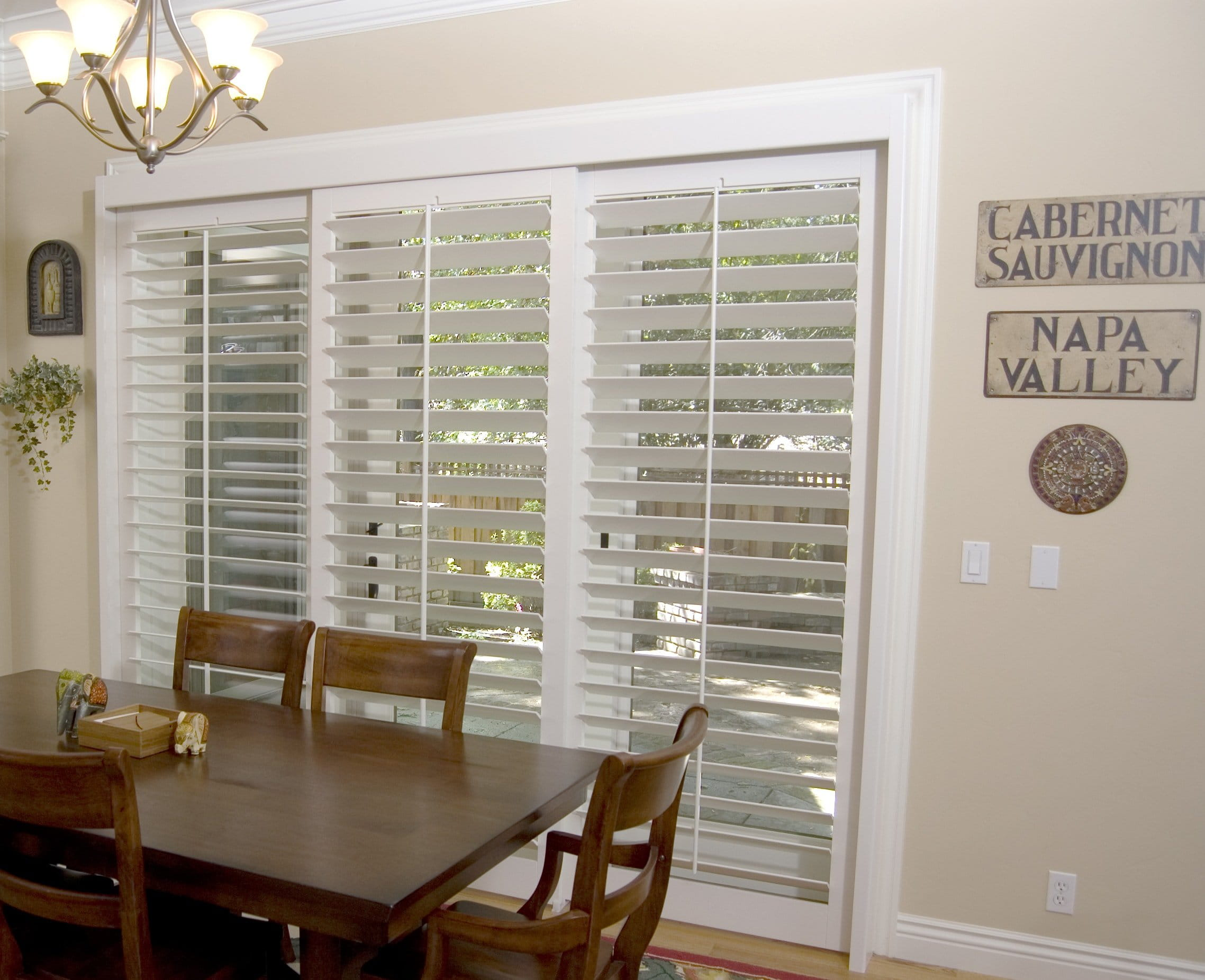 Sliding Door Plantation Shutters